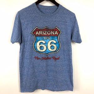 Other - Vintage Blue Route 66 Mother Road T-shirt Sz M